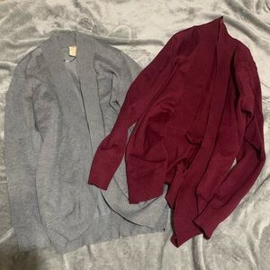 Two cardigans
